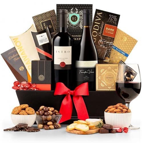 Food and wine basket