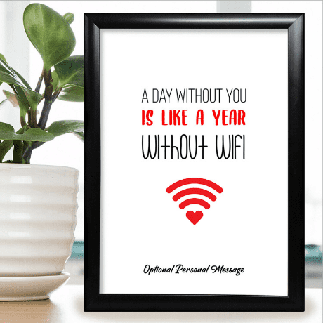 A Day Without You Print - anniversary gifts for her