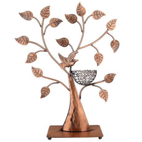 Jewelry Tree Bronze Bird Nest