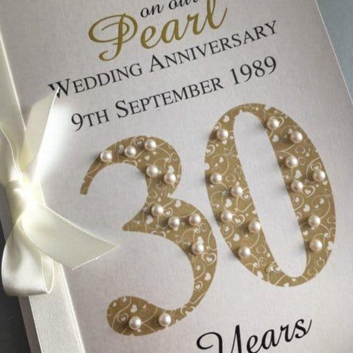 Pearl (30th) 30 Wedding Anniversary Card