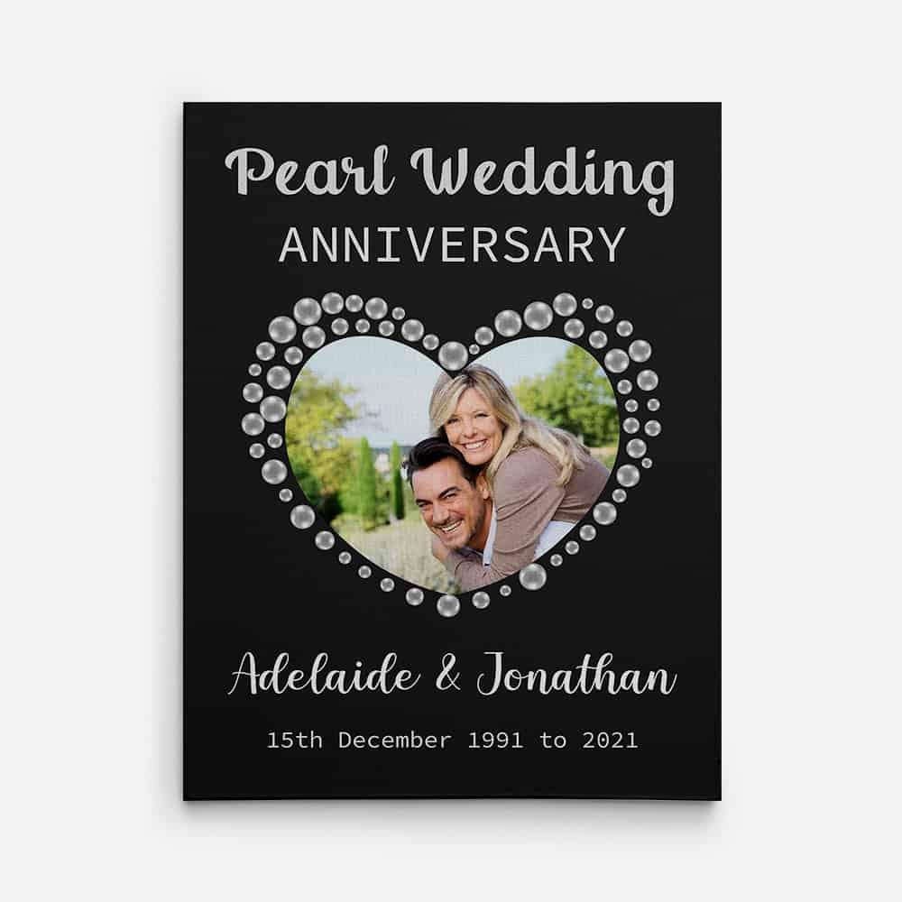 Pearl 30th Wedding Anniversary Canvas Print