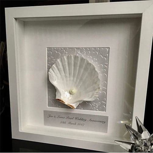 Shell Art Anniversary Gift for Parents