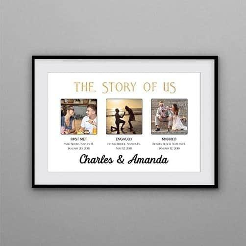 The Story Of Us Custom Photo Framed Print