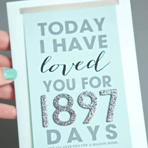 diy anniversary gifts for her:Today I Have Loved You for Card