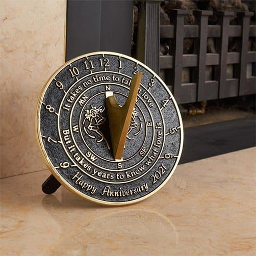 gifts ideas for mom and dad: Wedding Anniversary Sundial Gift