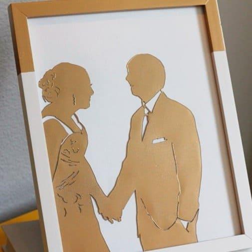 DIY Wedding Photo Silhouette
