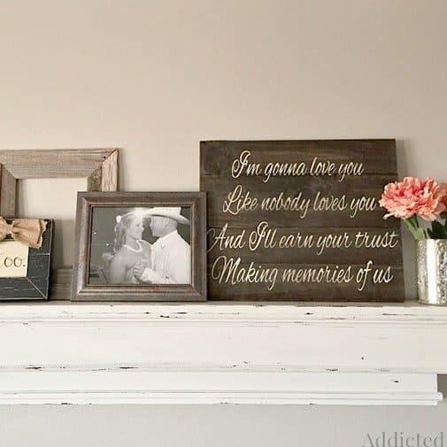 diy anniversary gift ideas: Wedding Song Wood Art