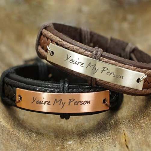 wedding anniversary gifts for friends: You Are My Person Bracelets