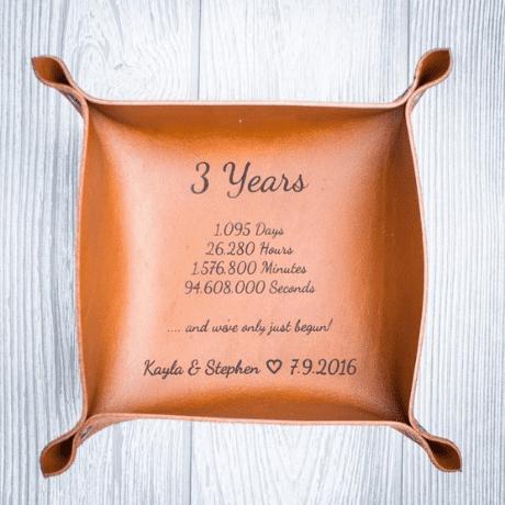 Custom Leather Valet Tray