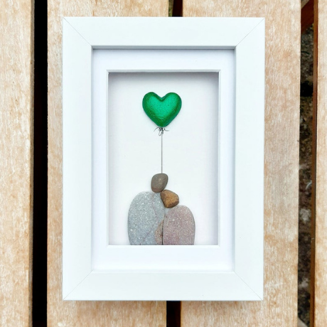Emerald Wedding Anniversary Pebble Art Picture