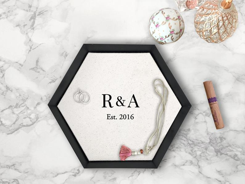 Personalized Cotton Tray - anniversary gifts for her