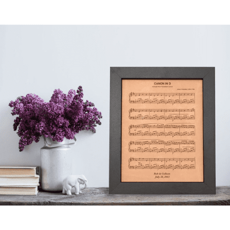 Leather Engraved Sheet Music