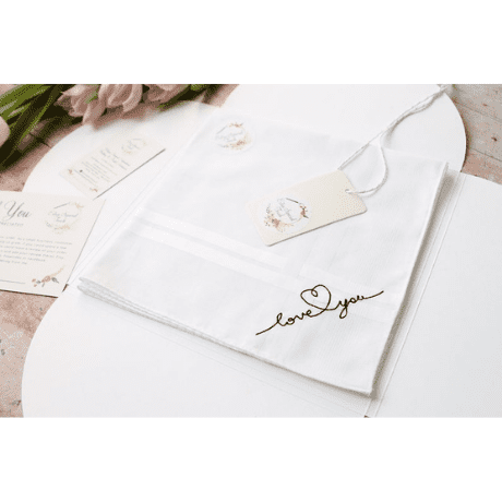Love You Handkerchief - anniversary gifts for her