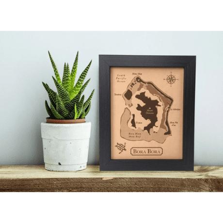 Honeymoon Map Art