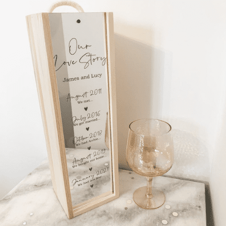 Our Love Story Wine Box