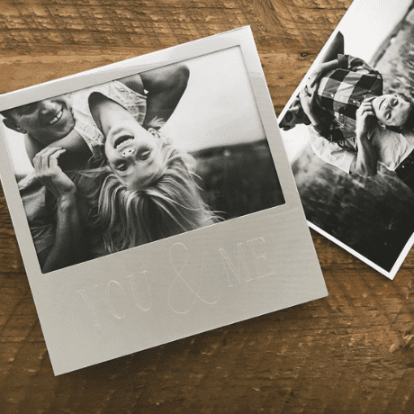 Personalized Engraved Silver Photo Frame