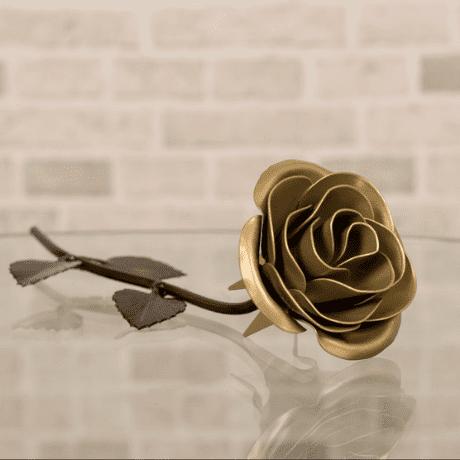 Gold Metal Rose