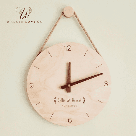 Personalized Wooden Clock - anniversary gifts by year