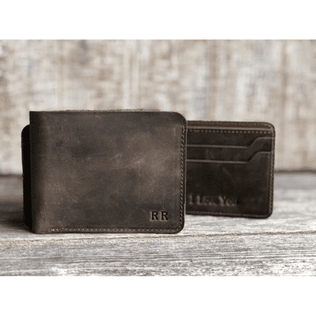 Personalized Wallet - 3rd anniversary gift
