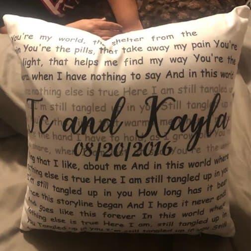 song-lyric-pillow