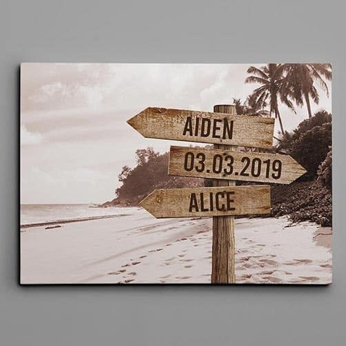wedding anniversary gifts ideas for parents: Street Sign