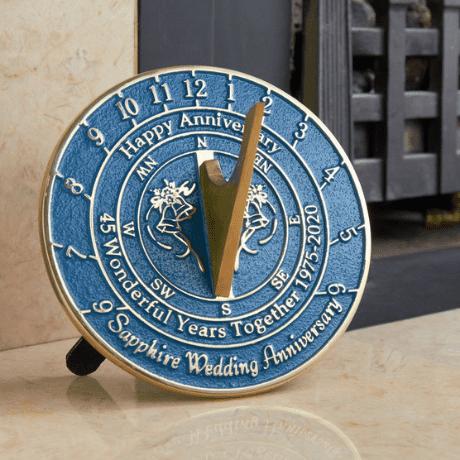 45th Wedding Anniversary Sundial Gift