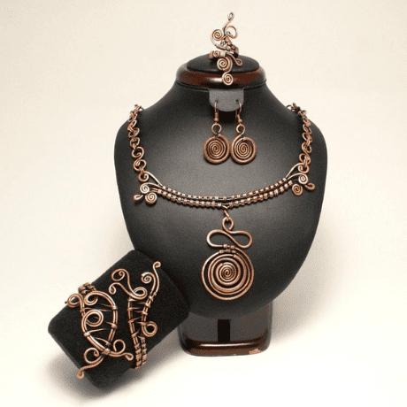 Copper Jewelry Set