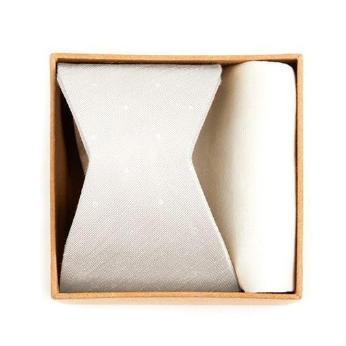 Bulletin Dot Bow Tie Box Ivory Gift Set