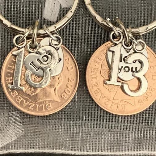 Coin Keyrings In Gift Bag