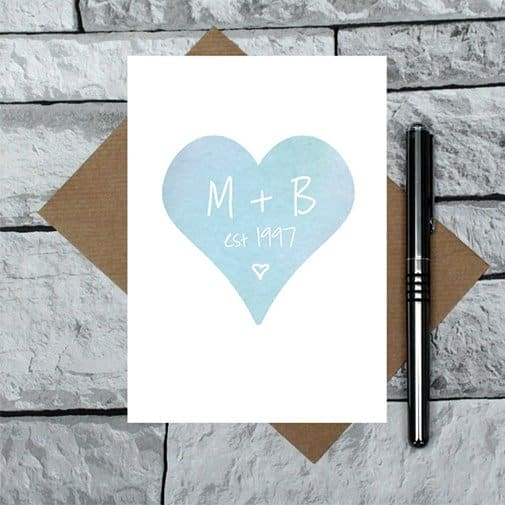 Couples Initials Anniversary Card: best anniversary cards
