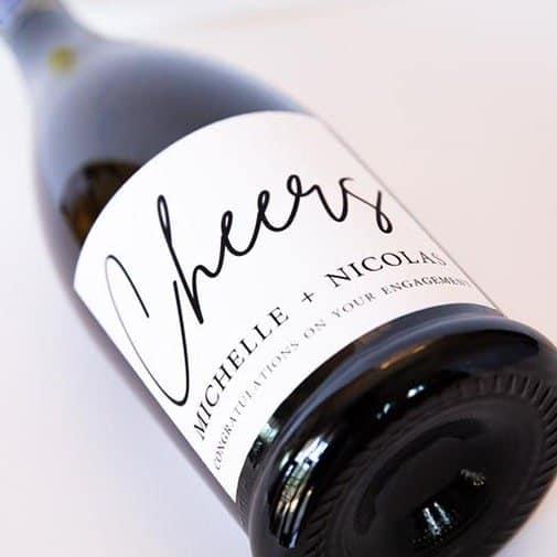 Custom Engagement Wine Label