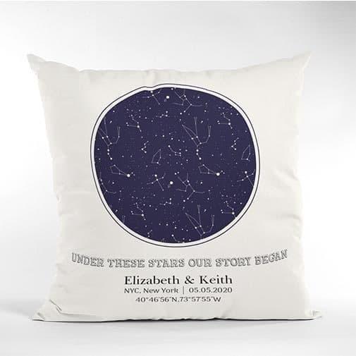 Custom Star Map Pillow