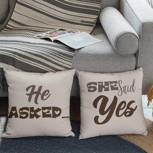 Engagement Pillow