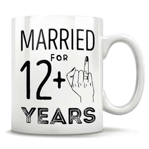 13 year anniversary gift ideas:Funny Coffee Mug