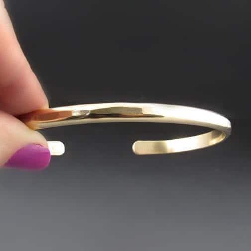 Gold Filled Hammered Cuff Bracelet