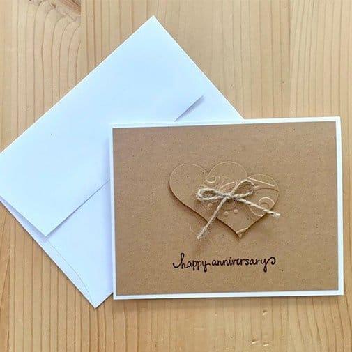 handmade card: anniversary card ideas