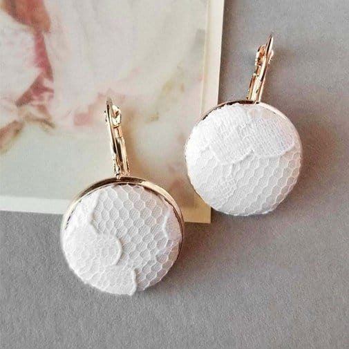 lace anniversary gifts for her:. Lace Dress Drop Earrings
