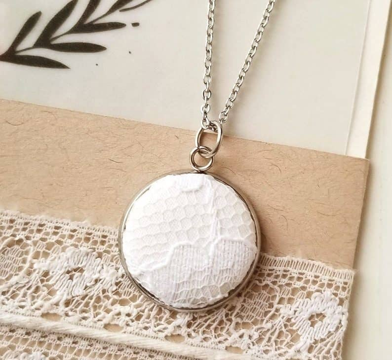 lace gifts for her: Lace Dress Pendant Necklace