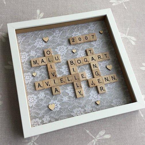 Lace Scrabble Frame