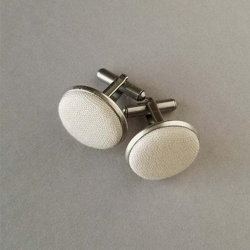 linen anniversary gifts: Linen Cufflinks