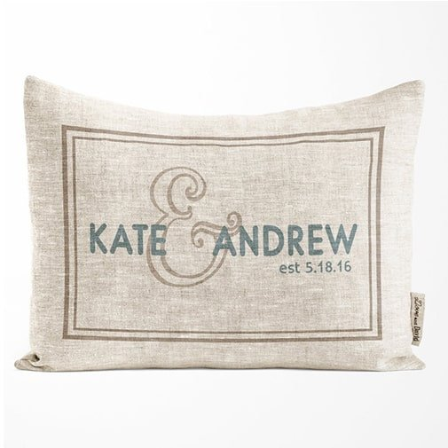 traditional 12th anniversary gift: Linen Pillow