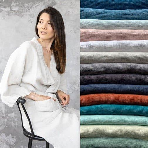 linen gifts: Linen Robe