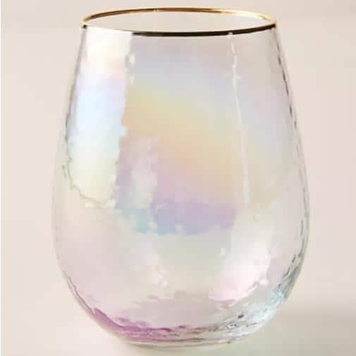 Lustered Stemless Wine Glasses