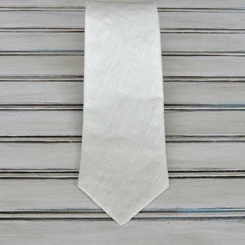 happy 12th anniversary: Navy Blue Linen Tie