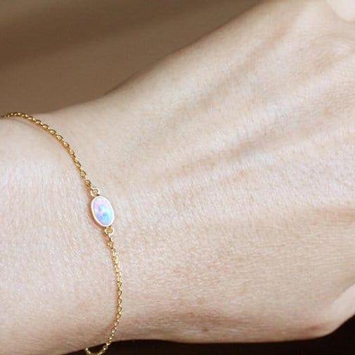 Opal Bracelet in Gold