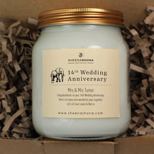Personalized Soya Wax Honey Pot Candle