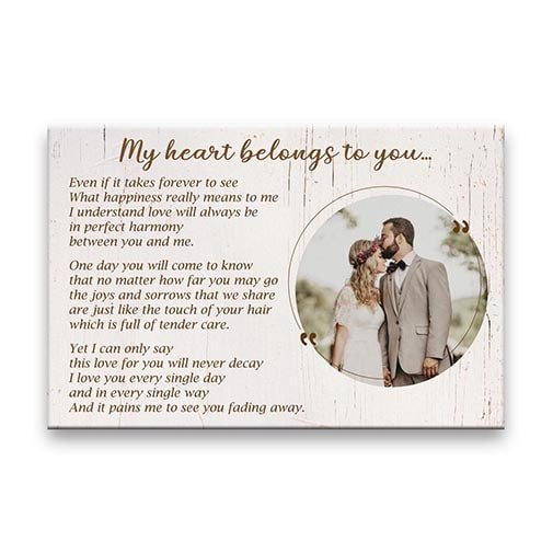 customized engagement gifts: Poem Canvas