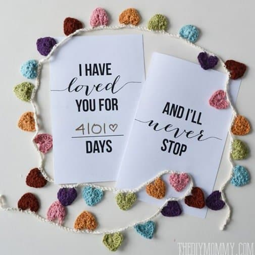 Printable Customize Date Anniversary Card