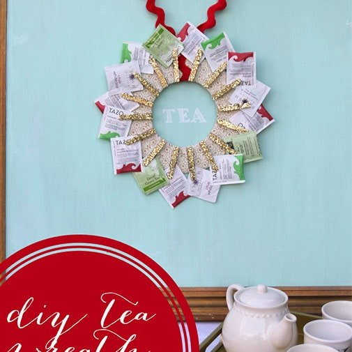 diy couple gifts: tea-wreath
