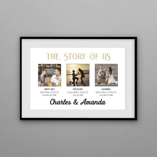 monogram gifts for couples: Story of Us